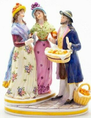 $ CDN125.54 • Buy Antique German Sitzendorf Porcelain Figurine, Marquet Grouping. XIX C.