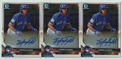 $ CDN1.31 • Buy Edward Olivares 2018 Bowman Chrome Prospect Autographs Auto - Lot Of 3