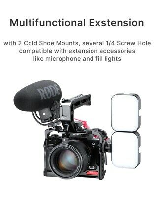 $ CDN85.59 • Buy Metal Housing Cage Case Frame Bracket With Cold Shoe Mounts For Sony A7R3 A7III