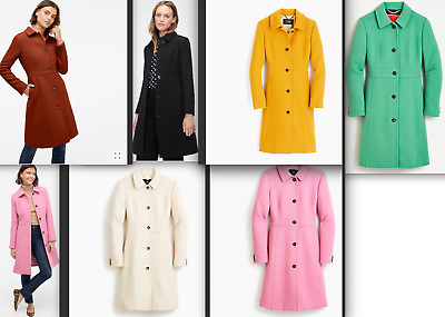 AU257.22 • Buy $398 J.Crew Classic Lady Day Coat In Italian Double-cloth Wool With Thinsulate