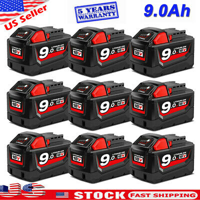 $28.99 • Buy 9.0 AH For Milwaukee M18 Lithium XC 5.0/6.0 Extended Capacity Battery 48-11-1860