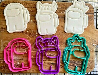 AU5.99 • Buy  Among Us Cutter & Embosser Set Cookie Cutters And Fondant.