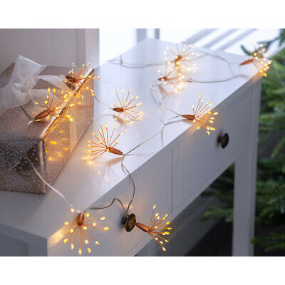 £12.99 • Buy Christmas Firework Light String Decoration Warm White Copper Wire LED Lights 2m