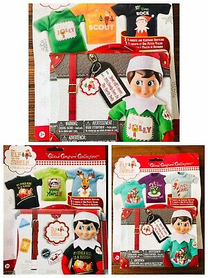 AU22.99 • Buy Elf On The Shelf Clothes NEW! Clothing With Carrying Case (3 T-shirt Pack)