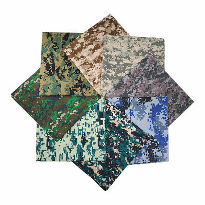 $9.99 • Buy 8 Pack Bandana 100% Cotton Camouflage Military Print Head Neck Face Cover Scarf