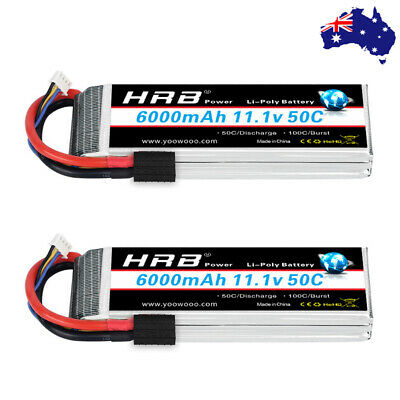 AU129.99 • Buy 2pcs HRB 3S 6000mAh LiPo Battery 50C 11.1V TRX For RC Truck Drone Car Helicopter