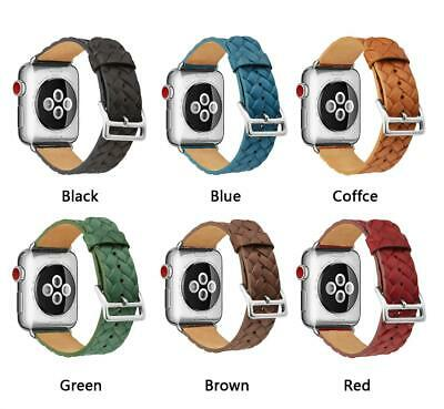AU19.99 • Buy Genuine Leather For Apple Watch Band Strap IWatch Series 6 SE 4 3 44 42 40 38mm