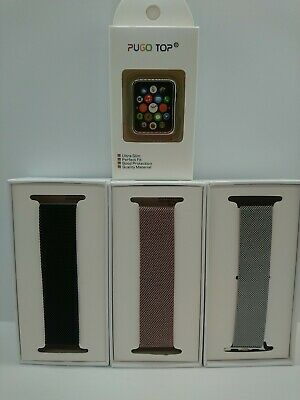 AU18.39 • Buy PUGO TOP Apple Watch Band With Case Milanese Loop Stainless Steel Replacement UK