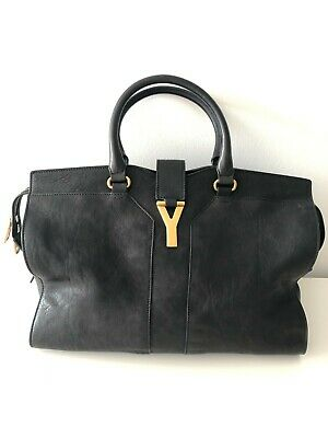 AU1250 • Buy Yves Saint Laurent Chyc Cabas Tote Large Black Bag YSL