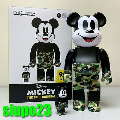 $399.99 • Buy Medicom 400% + 100% Bearbrick ~ A Bathing Ape Bape Mickey Mouse Be@rbrick GREEN