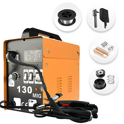 New Professional MIG 130 No Gas / Gasless Mighty Mig Auto Wire Feed Welder 30A • 89.99£