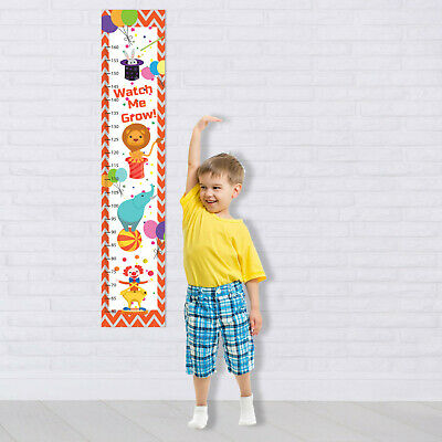 $ CDN6.72 • Buy Growth Measurement Ruler Personalized Kid Height Chart Wall Decal Clown Circus