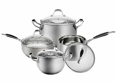 $ CDN109.30 • Buy Elitra High-quality Stainless Steel Cookware Pots And Pans Set, Silver (8 Piece)