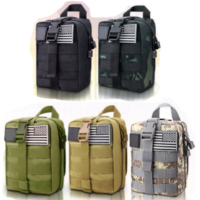 $33.78 • Buy Survival Green Molle First Aid Kit Military Bag 302 Emergency Gear Piece Trauma