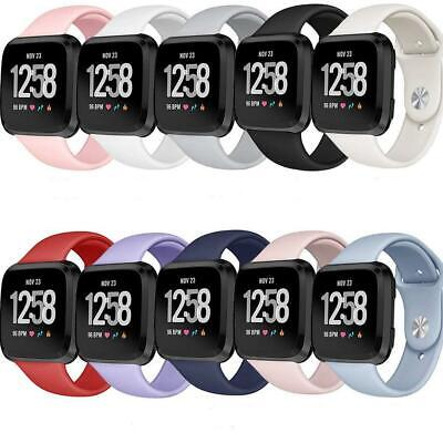 $ CDN15.18 • Buy 2- Sport Band Compatible With Fitbit Versa/Fitbit Versa- 2/Soft Silicone Strap