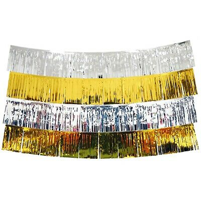Gold And Silver Fringe Tassel Banners 8 Feet X 14 In Party Decoration • 13.02£
