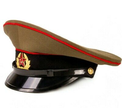 £24.74 • Buy Genuine Soviet USSR Russian Soldier Hat With Military Badge Star Emblem, Size 57