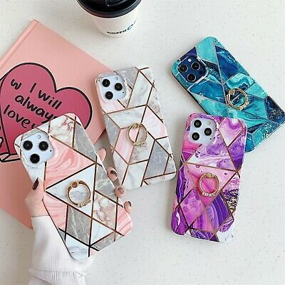 AU16.99 • Buy Geometric Marble Soft Pastel (Optional Ring) Case For IPhone 12 Mini 11 Pro Max