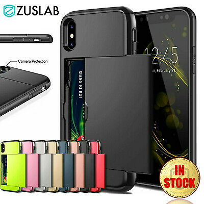 AU8.95 • Buy For IPhone X XS Max XR IPhone 8 Plus 7 Plus SE2020 Wallet Card Holder Case Cover