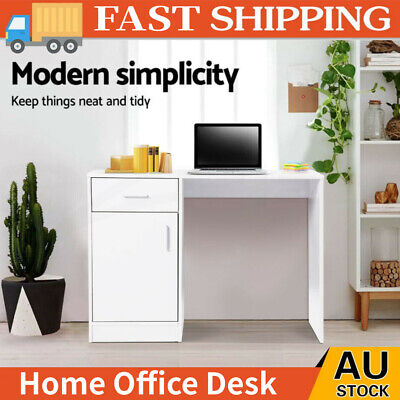 AU59.98 • Buy Small White Computer Desk Study PC Table Laptop Home Office Workstation Drawer