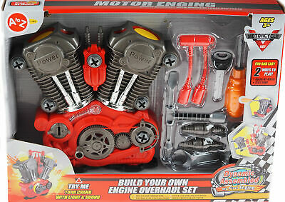 £14.95 • Buy Build Your Own Engine Overhaul Toy Set With Light & Sound  Xmas Gift For Kids