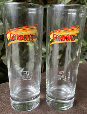 The Original Gordon's  Gin Glasses 3.5cl New X 2 • 9.99£