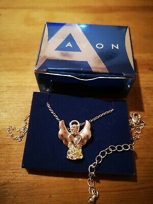 Avon Costume Jewellery Necklace Angel Pendant Preloved Birthstone April  • 6£