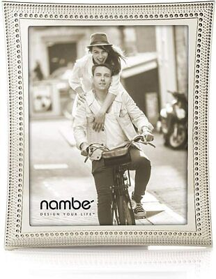 AU103.21 • Buy Nambe Beaded Collection Picture Frame 8  X 10  - Silver Plate - Holds One Photo