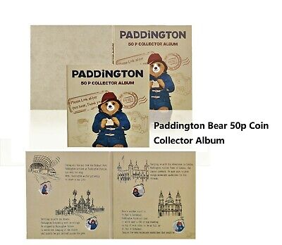 Brand New Paddington Bear 50p Fifty Pence Coin Collector Album , Story , Journey • 12.99£