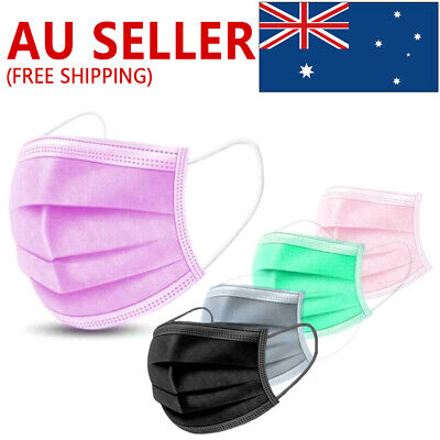 AU17.99 • Buy 50PCS Face Mask High Protective 3 Layer Mouth Masks Disposable Mask Surgical A