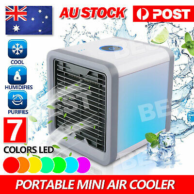 AU22.85 • Buy Portable Mini Air Cooler Fan Air Conditioner Cooling Fan Humidifier AC AU STOCK