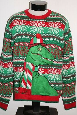 $21.70 • Buy 33 DEGREES Dinosaur Mens XL X-Large UGLY-CHRISTMAS Sweater Combine Ship Discount