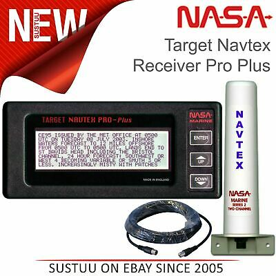 NASA Marine Navtex Target Receiver Pro Plus With Antenna & 7 Metre Cable|12-15v • 234.84£