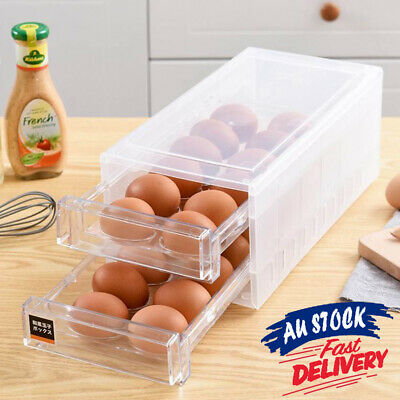 AU25.99 • Buy 24 Grids Egg Storage Holder For Fridge Box Tray Case Eggs Container ACB#