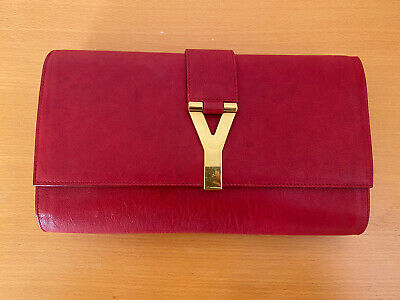 AU395 • Buy 100% Authentic YSL Clutch - Gold Hardware