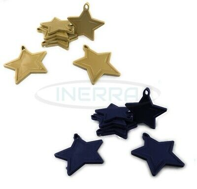 £3.99 • Buy Star Balloon Weights For Helium Balloons - Multipack - Gold & Navy Blue