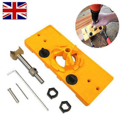 35mm Concealed Hinge Jig Drill Guide Drill Bit Kit For Cabinet Door Hole Cutter • 14.79£