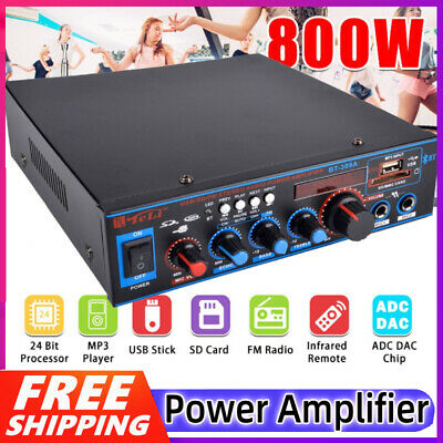 Mini 220V 600W Digital Bluetooth Power HiFi Stereo Amplifier Audio Amplifier FM • 19.89£