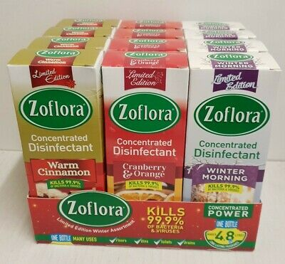 12 X 120ml ZOFLORA MIXED PACK CLEANER LIMITED EDITION • 19.49£