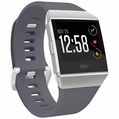 AU219 • Buy Fitbit Ionic Smart Fitness Watch Blue Grey - INFBIONICB - Large And Small Bands