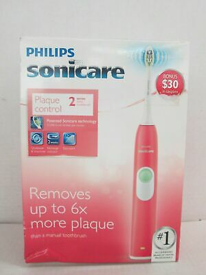 AU46.59 • Buy New!! Philips Sonicare Plaque Control 2 Series Rechargeable Toothbrush Coral