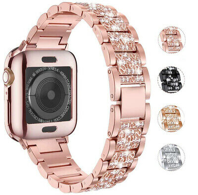 AU20.99 • Buy For Apple Watch Series 6 5 4 3 Milanese Bling Stainless Steel Watch Band Strap
