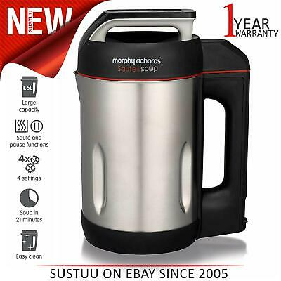 Morphy Richards Sauté & Soup Maker│1.6L│1000W│Brushed Stainless Steel│501014 • 62.71£