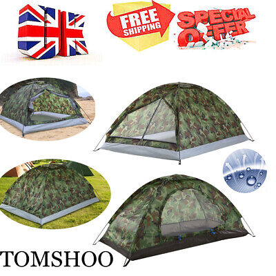 1-2 Person Man Tent Festival Camping Family Instant Pop Up Beach Waterproof M2K1 • 12.89£