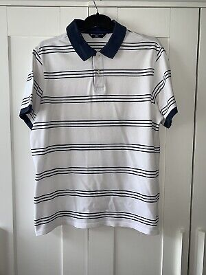 Mens Marks & Spencer Blue Harbour Polo Shirt Size Large Chest 41-43 • 2.50£