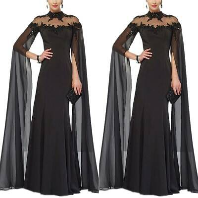 Women Backless Lace Prom Dress Evening Party Cocktail Ball Gown Long Maxi Dress • 40.29£