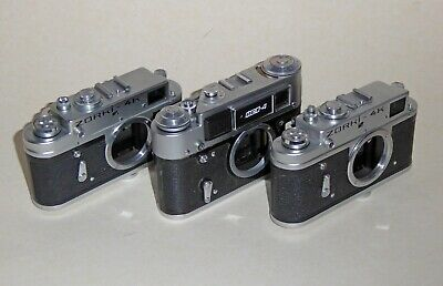 Zorki 4k X 2 And Fed 4 Rangefinder Camera  Bodies -  Sold For Parts   • 12£