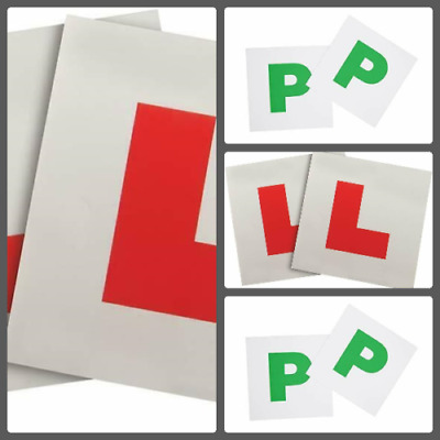 £2.99 • Buy 4 PK L&P Magnetic Plate New Learner Driver L-Plate & Licensed Driver P-Plate