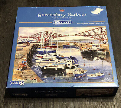 Gibsons 1000  PIECE JIGSAW PUZZLE Queensferry Harbour By Terry Harrison • 7.99£