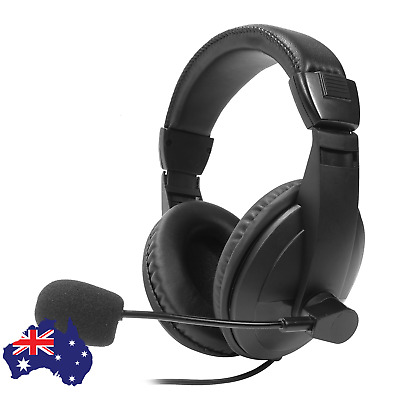 AU24.95 • Buy USB Gaming Office Headset MIC Headphones For PC Mac Laptop PS4 Xbox MIC 2M Cable